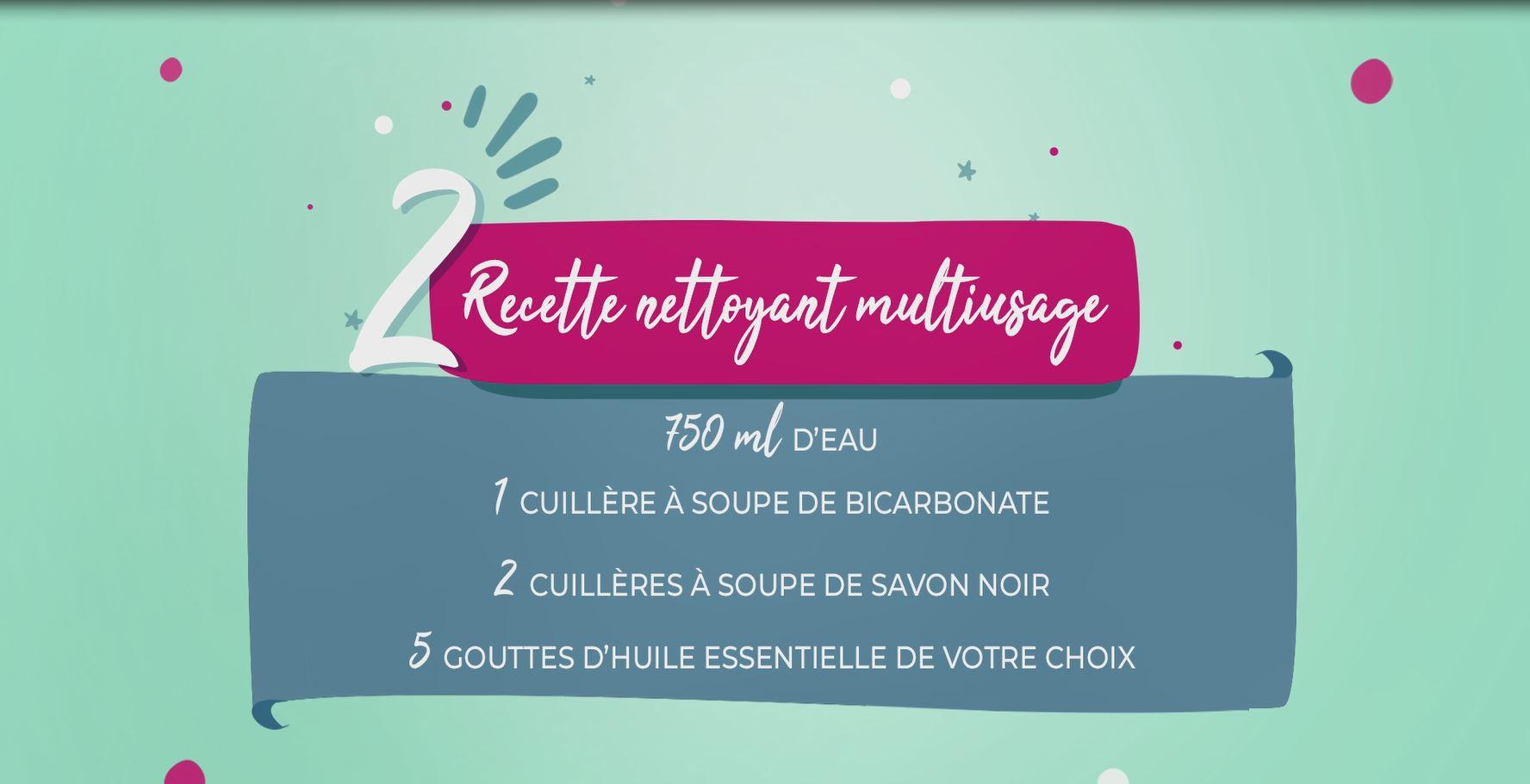 diy recette nettoyant multiusage
