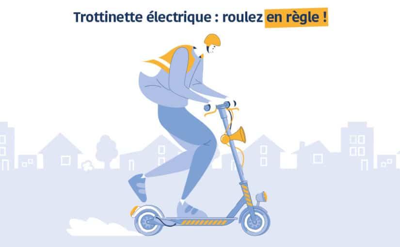 Trottinette électrique : roulez en règle !